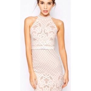 NWT ASOS Lace Racerback Cutout Lace Dress, Size 4P